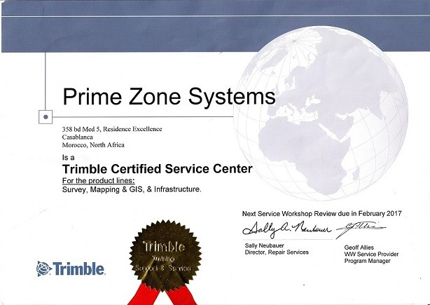 Trimble certified server center